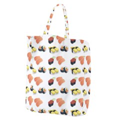 Sushi Pattern Giant Grocery Zipper Tote