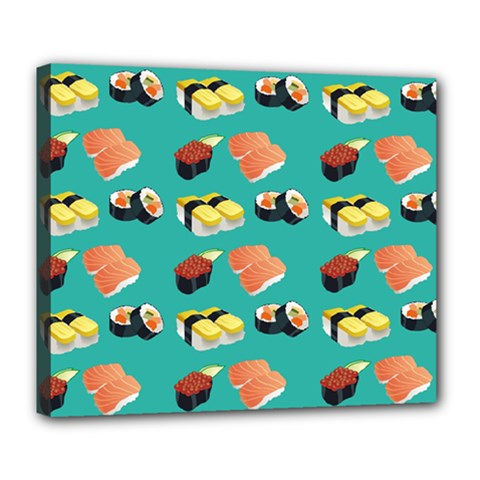 Sushi Pattern Deluxe Canvas 24  X 20