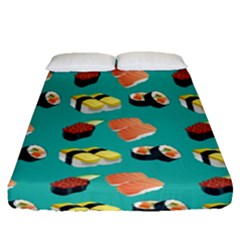 Sushi Pattern Fitted Sheet (queen Size)