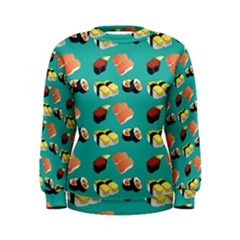 Sushi Pattern Women s Sweatshirt