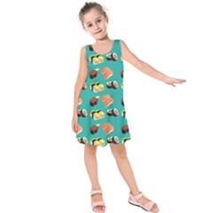 Sushi Pattern Kids  Sleeveless Dress