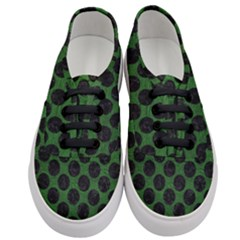 Circles2 Black Marble & Green Leather (r) Women s Classic Low Top Sneakers