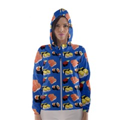 Sushi Pattern Hooded Wind Breaker (women)