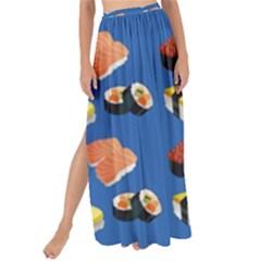 Sushi Pattern Maxi Chiffon Tie Up Sarong