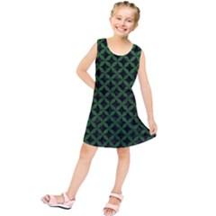 Circles3 Black Marble & Green Leather Kids  Tunic Dress