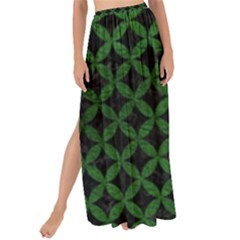 Circles3 Black Marble & Green Leather Maxi Chiffon Tie Up Sarong