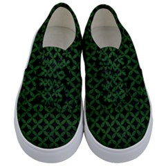Circles3 Black Marble & Green Leather Kids  Classic Low Top Sneakers