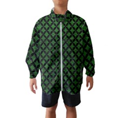 Circles3 Black Marble & Green Leather (r) Wind Breaker (kids)