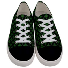 Circles3 Black Marble & Green Leather (r) Women s Low Top Canvas Sneakers