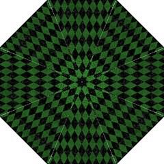 Diamond1 Black Marble & Green Leather Hook Handle Umbrellas (medium)