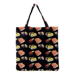 Sushi Pattern Grocery Tote Bag