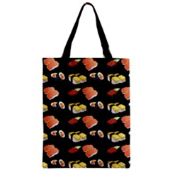 Sushi Pattern Zipper Classic Tote Bag