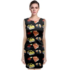 Sushi Pattern Classic Sleeveless Midi Dress