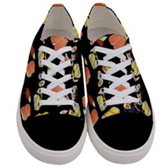 Sushi Pattern Women s Low Top Canvas Sneakers
