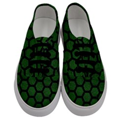 Hexagon2 Black Marble & Green Leather (r) Men s Classic Low Top Sneakers