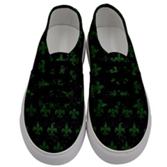 Royal1 Black Marble & Green Leather (r) Men s Classic Low Top Sneakers