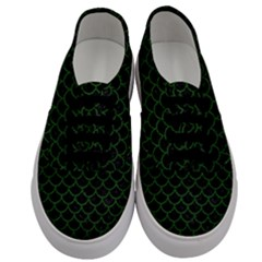 Scales1 Black Marble & Green Leather Men s Classic Low Top Sneakers