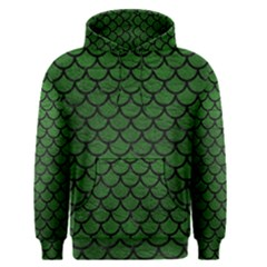Scales1 Black Marble & Green Leather (r) Men s Pullover Hoodie