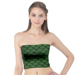 Scales1 Black Marble & Green Leather (r) Tube Top