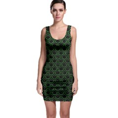Scales2 Black Marble & Green Leatherscales2 Black Marble & Green Leather Bodycon Dress