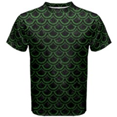 Scales2 Black Marble & Green Leatherscales2 Black Marble & Green Leather Men s Cotton Tee