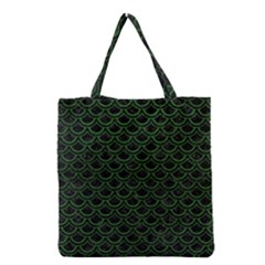 Scales2 Black Marble & Green Leatherscales2 Black Marble & Green Leather Grocery Tote Bag