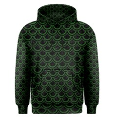 Scales2 Black Marble & Green Leatherscales2 Black Marble & Green Leather Men s Pullover Hoodie