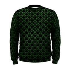 Scales2 Black Marble & Green Leatherscales2 Black Marble & Green Leather Men s Sweatshirt