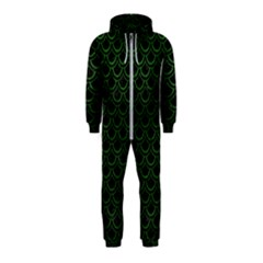 Scales2 Black Marble & Green Leatherscales2 Black Marble & Green Leather Hooded Jumpsuit (kids)