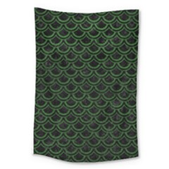 Scales2 Black Marble & Green Leatherscales2 Black Marble & Green Leather Large Tapestry