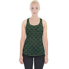 Scales2 Black Marble & Green Leatherscales2 Black Marble & Green Leather Piece Up Tank Top