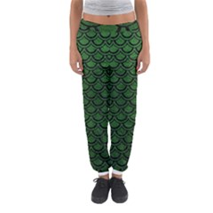 Scales2 Black Marble & Green Leather (r) Women s Jogger Sweatpants