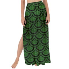 Scales2 Black Marble & Green Leather (r) Maxi Chiffon Tie Up Sarong
