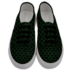 Scales3 Black Marble & Green Leather Men s Classic Low Top Sneakers