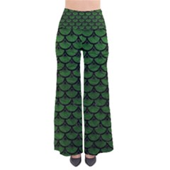 Scales3 Black Marble & Green Leather (r) Pants