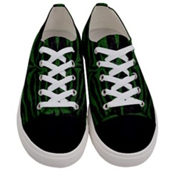 Skin2 Black Marble & Green Leather Women s Low Top Canvas Sneakers