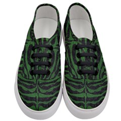Skin2 Black Marble & Green Leather Women s Classic Low Top Sneakers