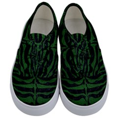 Skin2 Black Marble & Green Leather Kids  Classic Low Top Sneakers