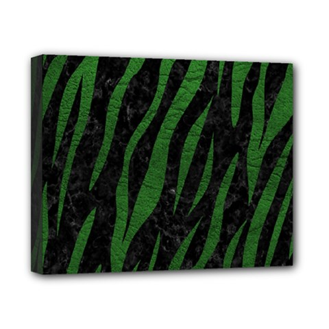 Skin3 Black Marble & Green Leather Canvas 10  X 8