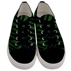 Skin3 Black Marble & Green Leather Men s Low Top Canvas Sneakers
