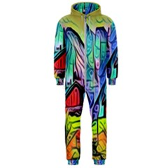 Magic Cube Abstract Art Hooded Jumpsuit (men)