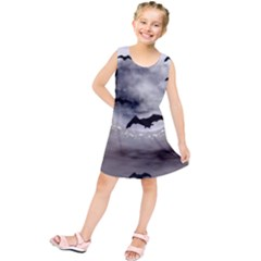 Bats On  The Moon Kids  Tunic Dress