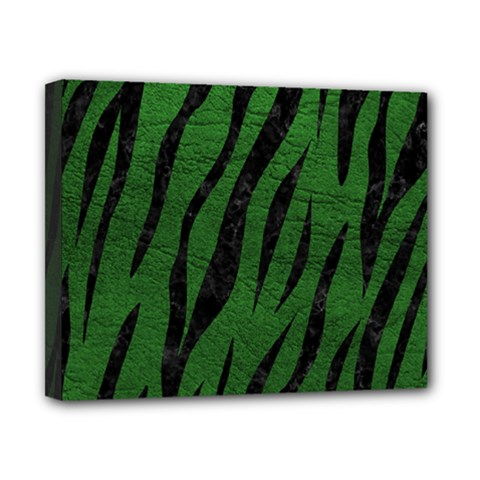 Skin3 Black Marble & Green Leather (r) Canvas 10  X 8