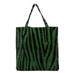 Skin4 Black Marble & Green Leather Grocery Tote Bag