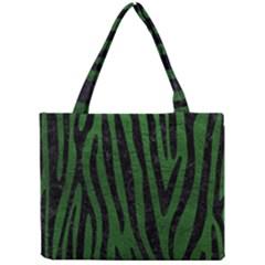 Skin4 Black Marble & Green Leather Mini Tote Bag
