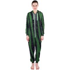 Skin4 Black Marble & Green Leather Hooded Jumpsuit (ladies)