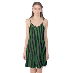 Skin4 Black Marble & Green Leather Camis Nightgown