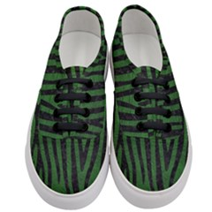 Skin4 Black Marble & Green Leather Women s Classic Low Top Sneakers