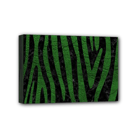 Skin4 Black Marble & Green Leather (r) Mini Canvas 6  X 4