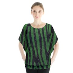 Skin4 Black Marble & Green Leather (r) Blouse